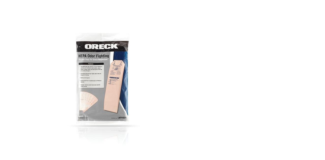 Magnesium HEPA Odor Fighting Vacuum Cleaner Bags (6 pack) - LWPK6OH